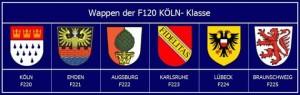 Wappen aller Fregatten