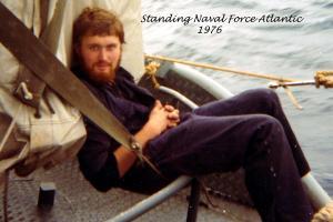 1975 Pause auf dem Atlantik